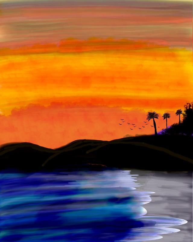 Picsart drawings!   #freetoedit #fanartofkai #picsartedit #drawtools #drawnwithpicsart #sunset    https://youtu.be/ucwZCSdIeYA #myedit #mydrawing #mydesign