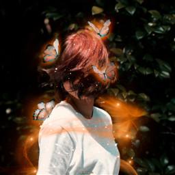 freetoedit orange butterfly butterflies lights irchairflip