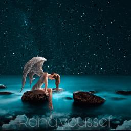 freetoedit fineart surrealism angel seaside
