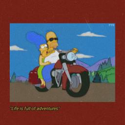 freetoedit homersimpson margesimpson motercycle adventure