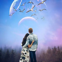 freetoedit replay moon couple picsartreplay