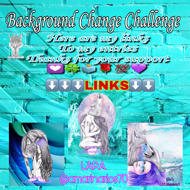 It's that time to vote for   Background Change  Challenge   If you like  my entries   then go vote for them ..  I would really appreciate it  Thanks for y'all supper    💟🍀🗳🌹💯💜 Marina  L.A.P.A.@amarinarios70   ⬇️⬇️LINKS ⬇️⬇️   https://picsart.com/i/332321495003201?challenge_id=5f02f9eec4bed82d3f058072  https://picsart.com/i/332320252044201?challenge_id=5f02f9eec4bed82d3f058072  https://picsart.com/i/332321104098201?challenge_id=5f02f9eec4bed82d3f058072  Thanks in advance    #mybackground #mywork #myediting #editedbyme #editedbyLAPA@amarinarios70 #chica #wolf #moon #illustration #digitalart #artist #photography #photographer #photooftheday @amarinarios70  #freetoedit