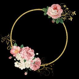 flower flores asthetic dorado negro freetoedit