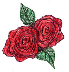 rose drawing coloring art pencil freetoedit