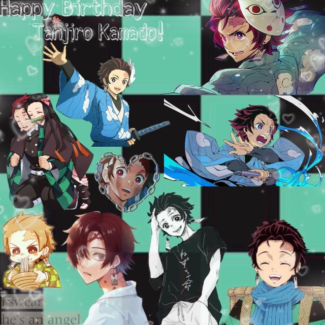EEEE should I do more Demon Slayer edits??? Maybe I'll do Nezuko next idk. A birthday edit for our nice boi. Happy Birthday Tanjiro! 💚 #freetoedit