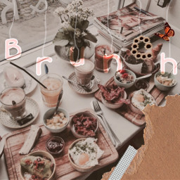 food brunch lunch breakfeast aesthetic
