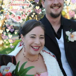 brideandgroom weddinganniversary freetoedit