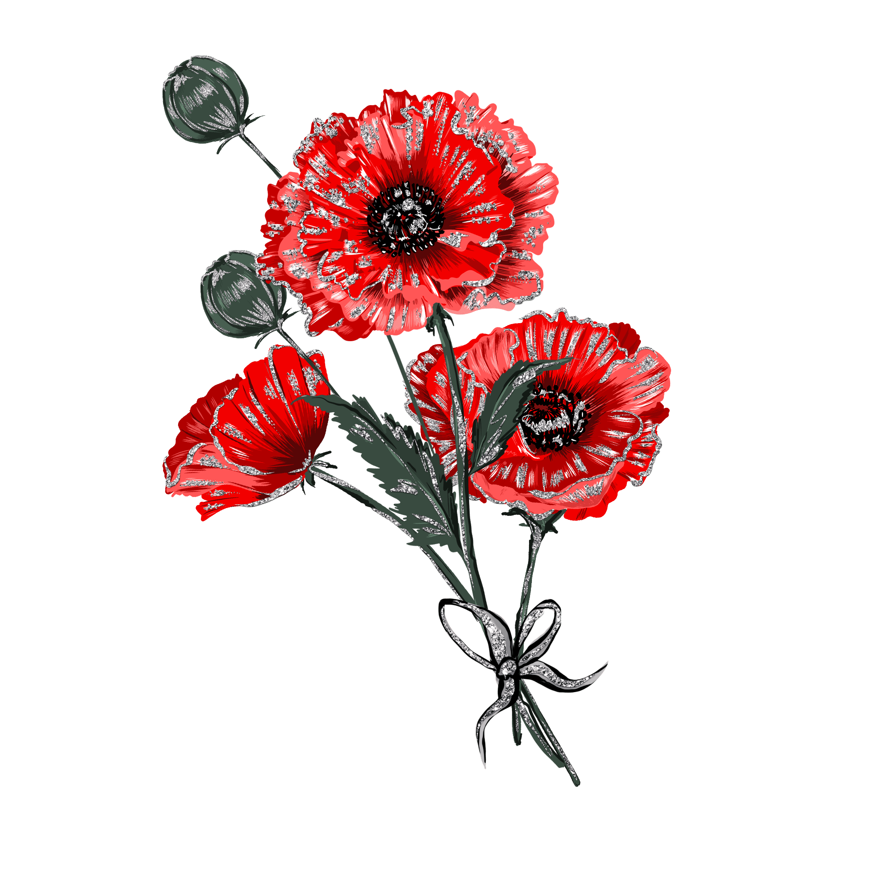 Poppy Poppies Remembrance Sticker By Stacey4790