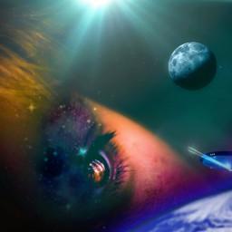 freetoedit spacereflection deepspace spaceaesthetic sunlight irctheeyeshaveit
