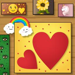 freetoedit cute imagination heart frame ftestickers