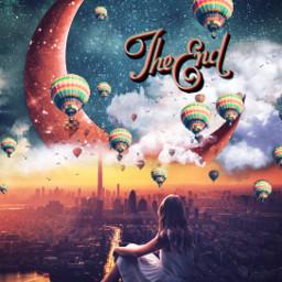 freetoedit theend hotairballoon remixchallenge surreal srchotairballoons hotairballoons