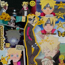 freetoedit borutonarutonextgenerations borutouzumaki yellowaesthetic anime
