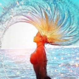 freetoedit anotheredit picsartchallenge hairflip mermaidhairflip rcsummersparkle summersparkle