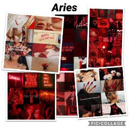 aries aesthetic collage zodiac arieszodiac