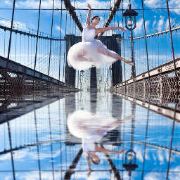 freetoedit ballet photography mirror water