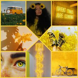 yellowaesthetic yellow yellowcollage collage interesting ccyellowaesthetic