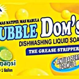 logo branding bubble dishwashing liquid