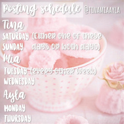 freetoeditbutnotfreetosteal pink postingschedule schedule cakes