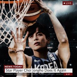 kpop picsart ateez jongho aesthetic freetoedit