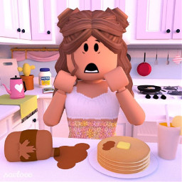 robloxgfx roblox robloxgirl cooking mess freetoedit