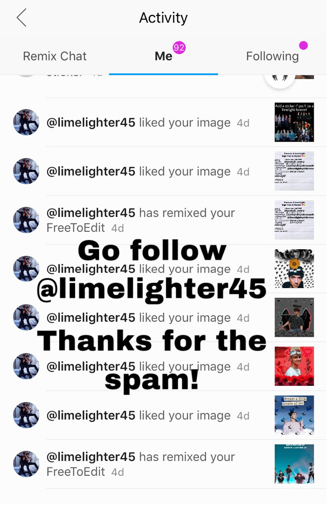 Thanks for the spam @limelighter45