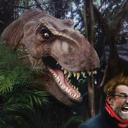 freetoedit dinosaur screaming man photomanipulation