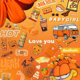 orange orangeaesthetic orangebackground aesthetic freetoedit