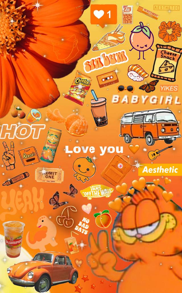 #orange #orangeaesthetic #orangebackground #aesthetic
