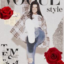 freetoedit roses vintage charlidamelio newspaper