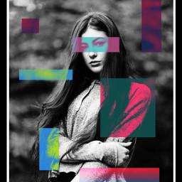 freetoedit coloursplash blackandwhite girl