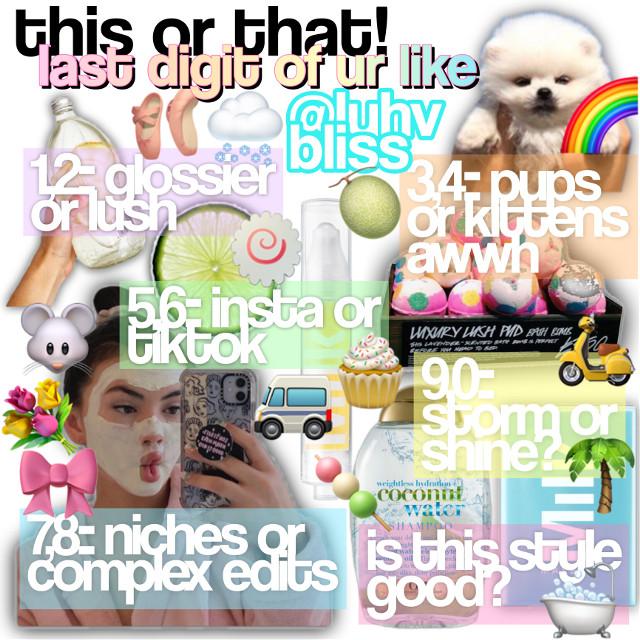 -ˋ₊˚.𝙲𝙰𝙽𝙽𝙸𝙴'𝚂 𝙳𝚁𝙴𝙰𝙼 𝙶𝙰𝚁𝙳𝙴𝙽࿐ `` ︵︵︵︵︵︵ ⋯ ⁺🌈 .˚ › ♡    ❀⊱┄┄┄┄┄┄┄⊰❀ 🄶🄰🅁🄳🄴🄽 花园 -ˋˏ彡꒰💐 ๑ˊૢᵕ🌷 ᝰ 🗺 ˎˊ-  𑁍  ✨  fcount:: 119 I think ꒰🐚 𑁍  fgoal :: 150 𑁍  🌴  title:: this or that  ꒰🌷 𑁍  theme :: niche meme 𑁍 ☁️   current mood:: happy  ❀⊱┄┄┄┄┄┄┄⊰❀ 🄰🄽🄸🄼🄰🄻🅂 动物 -ˋˏ🧚🏻♀️彡꒰ ᝰ 🧴 ๑ˊૢᵕ 🍵 ˎˊ-  ꒰🐬  𑁍  opinion:: I like it! 𑁍  🐹   inspiration:: plaidbambi omgg for the emoji ideas ꒰🦩  𑁍  like goal:: 30? 𑁍 🦜  a lil message  ── 🚐 ♡ ︵ . .   ❛okie this is basically kyras theme omg I  lovEE it so much! I got the emojis idea from her so HUGE credit for that! <3 I hope you know I'm not  copying chu I just love your idea you are my iDoL 😤☺️ 🄵🅁🅄🄸🅃🅂 水果  -ˋˏ ˘͈ᵕ˘🏹♡⋆͛ ۪۪۫۫ ༄ؘ 🩰ˑ ◌༉‧🍼 ˎˊ-  ꒰🥭 𑁍  credits:: sticker owners 𑁍  🍈  description inspiration:: rainbwglcss ꒰🥥 𑁍  follow:: luvbush (ibf)  ‧₊˚ 🌊┊͙[𝙼𝚈 𝚃𝙰𝙶𝙶𝙸𝙴𝚂] ˎˊ—𓆝𓆟𓆜 ︶︶︶︶︶︶︶︶︶︶︶︶︶𓇽  ☁️ ꒱ @exquisite_edits  💧 ꒱ @stxrry-lover  ☁️ ꒱ @abbisnotokay  💧 ꒱ @dxsneyxprxncess  ☁️ ꒱ @iismoothie   💧 ꒱ @mymotionlessromance ☁️ ꒱ @doggirlinthecity  💧 ꒱ @x_tiktokedits_x  ☁️ ꒱ @blaiirxstar  💧 ꒱ @hayden_edits  ☁️ ꒱ @-mar2-  💧 ꒱ @strxwbxrry_e  ☁️ ꒱ @stxrry-love  💧 ꒱ @avocado_st   ☁️ ꒱ @flxralniche  💧 ꒱ @cloudyxniches  ☁️ ꒱ @lqllyglqss  💧 ꒱ @luvemmaa   ☁️ ꒱ @milkywcy  💧 ꒱ @bqbyblue ☁️ ꒱ @pixxijoy 💧 ꒱ @lqvely- ☁️ ꒱ @grcnde_frcppc 💧 ꒱ @mxnu- ☁️ ꒱ @glqssy_edits 💧 ꒱ @blushboca  ☁️ ꒱ @jaowzer  💧 ꒱ @catzruul ☁️ ꒱ @multifandomsparkles 💧 ꒱ @miraculousxmarinette ☁️ ꒱ @nxixdea 💧 ꒱ @unicorn-eater  ☁️ ꒱ @enuioa- 💧 ꒱ @turkeyybacon ☁️ ꒱ @bmulkey 💧 ꒱ @adorelush- ☁️ ꒱ @glssyfendi 💧 ꒱ @-kiwiglxw- ☁️ ꒱ @swccthoney- 💧 ꒱ @nightmxres ☁️ ꒱ @aurixllie  💧 ꒱ @tropicgloss- ☁️ ꒱ @stqrlight- 💧 ꒱ @blueberry5000  ☁️ ꒱ @awhmelanie- 💧 ꒱ @-jimins_berries- ☁️ ꒱ @hcneybuns- 💧 ꒱ @blccm  ☁️ ꒱ @astrowrlds 💧 ꒱ @diqrcupid  ☁️ ꒱ @konstantinaravenclaw  💧 ꒱ @pixiefqiry- ☁️ ꒱ @seoulxkorea 💧 ꒱ @awhcake  ☁️ ꒱ @pcachpuff 💧 ꒱ @alohaluhv ☁️ ꒱ @fqiry_mari 💧 ꒱ @hcnxy- ☁️ ꒱ @iibeqnie-   ❝ when the comments are back you can get an emoji of ur choice on the list !¡    ˗ˋ thanks for visiting(🌱); ༉‧₊˚  — ❝have a lovely day!¡❞ 
