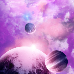 freetoedit background sky clouds planets