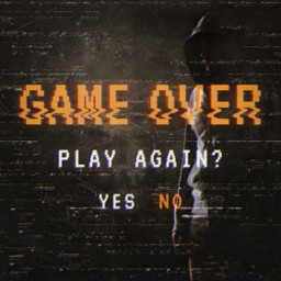 freetoedit gameover game over vhs