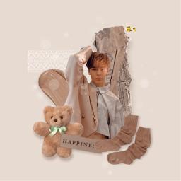 tan vernon beige bear socks freetoedit