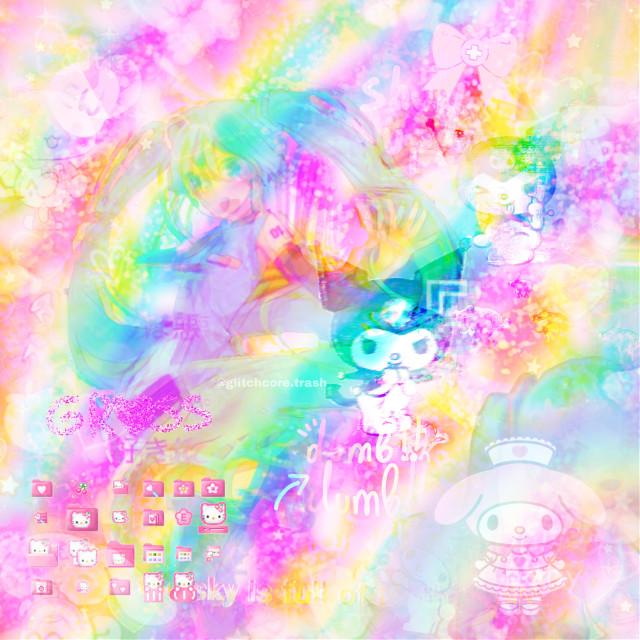 #freetoedit first glitchcore edit hehe  #freetoedit  #yamikawaii #art #artist #glitchcore #sanrio
