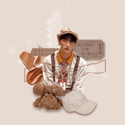 seonghwa parkseonghwa ateez tan brown freetoedit