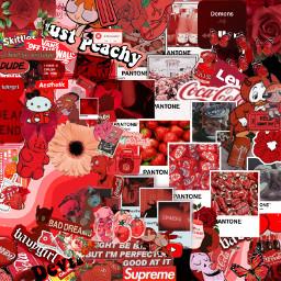 freetoedit red collage conplex devil