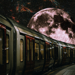 freetoedit moon space galaxy train