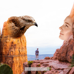 prettywoman landscape nature rocks eagle freetoedit ftestickers