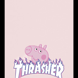 aesthetic pink peppapig trasher