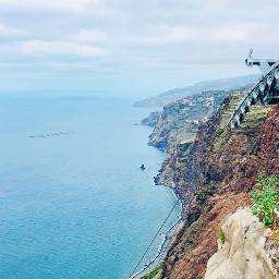cliff view sea madeira island