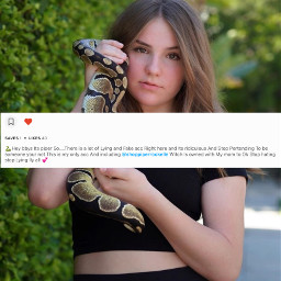fake accounts piperrockelle snake account