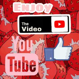 freetoedit aesthetic strawberry youtube intro