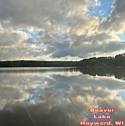 hayward lake wisconsin clouds sky freetoedit
