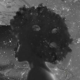 freetoedit hairdo hair afro space echairart hairart