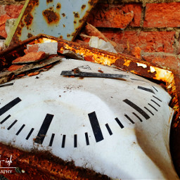 freetoedit photography lostplace industrial clock