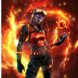 freetoedit fortnite fire flames hot