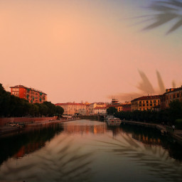 freetoedit sunset milanocity unsplash colorpaint