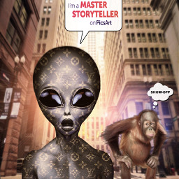 picsartmaster alienized luxe alien monkey city story