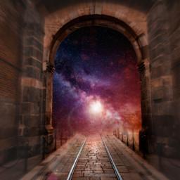 freetoedit galaxy sky universe light contrast surreal surrealisticgate gate madewithpicsart stayinspired inspiration